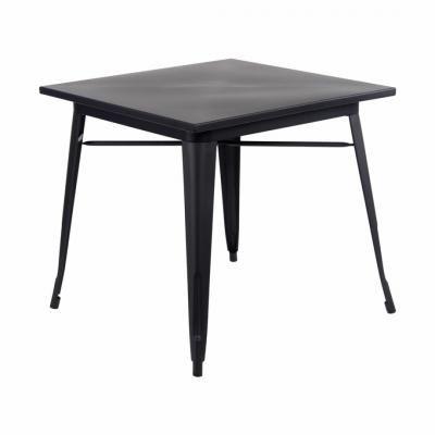 Fém vázas étkezőasztal, fekete - ATELIER